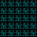 Printed circuit board pattern Royalty Free Stock Photo