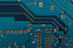 Printed Circuit Board (PCB) Stock Photo