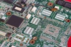Printed circuit board, PCB close-up. Printed circuit board, PCB close up stock photography