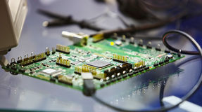 Printed circuit board. PCB Royalty Free Stock Image