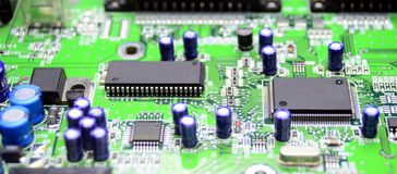 Printed circuit board with radio parts Stock Photography