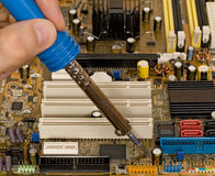 Printed circuit board repair Royalty Free Stock Images