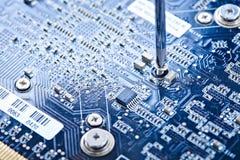 Printed circuit board repair stock images