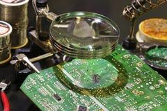 Printed Circuit Board Repair Royalty Free Stock Images