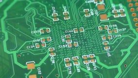 Printed circuit board rotation stock video