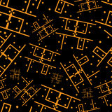 Printed circuit board seamless pattern Stock Photography
