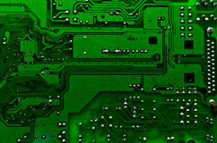 Printed circuit board. А track on the printed circuit board Stock Photo