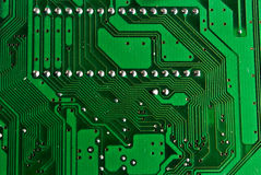 Printed circuit board. А track on the printed circuit board Royalty Free Stock Image