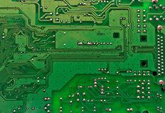 Printed circuit board. А track on the printed circuit board Stock Image