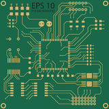 Printed circuit board vector background. PCB Stock Image