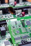 Printed Circuit Boards Placed Bulk with One Another in Laborator Royalty Free Stock Photos