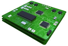 white pcb with several smd electronic components stock photo image rh dreamstime com