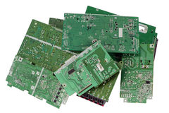 Printed-circuit boards are prepared for utilization Stock Photos