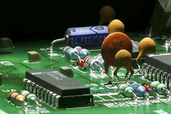 Printed Circuit Components Royalty Free Stock Photo