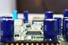 Printed Circuit Components. Royalty Free Stock Photo