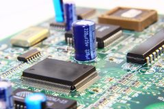 Printed Circuit Components. Royalty Free Stock Photos