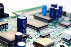 Printed Circuit Components. Stock Images