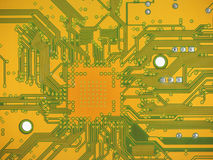 Printed circuit. Detail of an electronic printed circuit board Stock Images