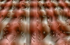 Printed circuit grunge background Stock Image
