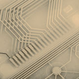 Printed circuit from keyboard Royalty Free Stock Photography
