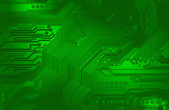 Printed circuit - motherboard Stock Photography