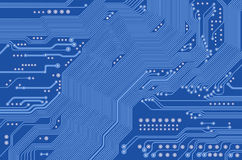 Printed circuit - motherboard Royalty Free Stock Image