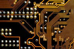 Printed circuit - motherboard Stock Photo