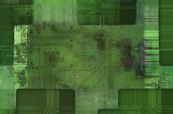 Printed circuit - motherboard Stock Images