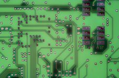 Printed circuit - motherboard Stock Photos