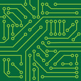 Printed circuit texture. Background, can be mosaiced Royalty Free Stock Images