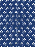 Printed cloth motif. Seamless blue and whit  print pattern background Stock Photo