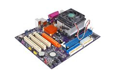 Computer motherboard board Stock Photos