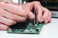 Printed curcuit board repair Stock Image
