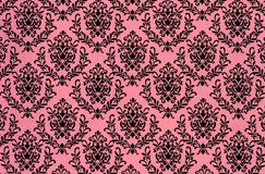 Printed damask repeat pattern background. A closeup of a lovely old fashioned shabby  chic damask pattern printed on a paper background Royalty Free Stock Photos
