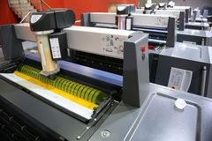 Printed equipment. The view of printed equipment royalty free stock photos