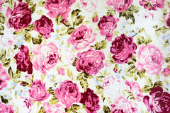 Printed fabric in floral pattern Royalty Free Stock Photo