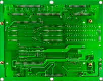 Printed green computer circuit board Stock Photos