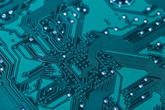 printed green computer circuit board Stock Photography