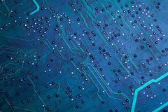 Printed green computer circuit board Stock Images
