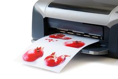 Printed images stock photo