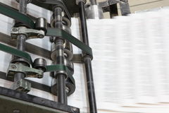 The printed machine Royalty Free Stock Photos