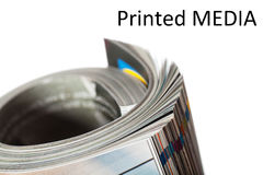 Printed media Royalty Free Stock Images