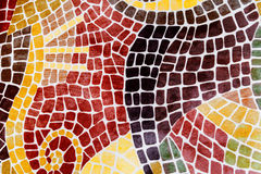Printed mosaic on a plastic surface Royalty Free Stock Photo
