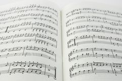 Printed music Royalty Free Stock Images
