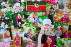 Printed photos background Royalty Free Stock Image