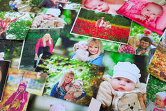 Printed photos background Royalty Free Stock Photos
