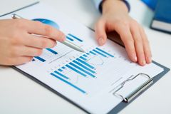 Printed statistics Stock Images