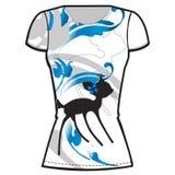Printed t-shirt design template. Vector illustration of printed t-shirt design template Stock Image