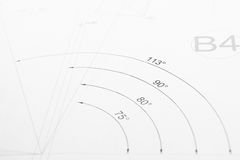 Printed technical drawing royalty free stock photos