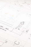 Printed technical drawing 7 Stock Photography
